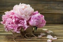 Flores hermosas en el fondo de madera, diverso, lugar para el texto, primer fotografía de archivo