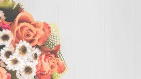 Flores hermosas en estilo del vintage Fotografía de archivo
