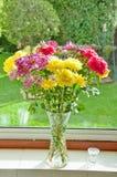 Flores hermosas en un florero Foto de archivo libre de regalías