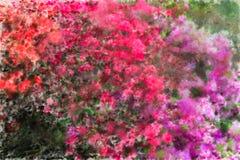 Flores impresionistas Imágenes de archivo libres de regalías