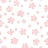 Flores inconsútiles del vector de la acuarela del modelo Flores del Watercolour del vector Fotos de archivo libres de regalías