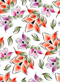 Flores inconsútiles para las telas de materia textil Foto de archivo libre de regalías