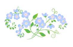 Flores ingénuas ilustração royalty free