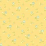 Flores ingénuas, amarelas Fotografia de Stock Royalty Free