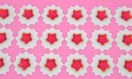 Flores islâmicas do teste padrão, 3d Foto de Stock