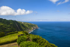 Flores Island, Azores. Coast Landscape in Flores Island, Azores, Portugal Royalty Free Stock Photos