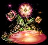 Flores luminosas ilustração royalty free