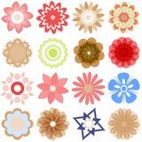 Flores múltiples de la historieta Imagen de archivo libre de regalías