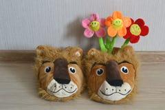 Flores macias dos brinquedos Fotos de Stock