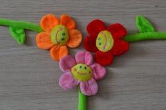 Flores macias dos brinquedos Fotos de Stock Royalty Free