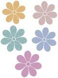 Flores modeladas Fotos de Stock Royalty Free
