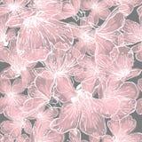 Flores modelo inconsútil, flor de la cereza de la primavera Fondo retro del vector ilustración del vector