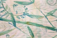 Flores multicoloras y pintura de espray de acrílico abstracta creativa Fotografía de archivo libre de regalías