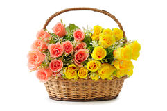 Flores na cesta Foto de Stock Royalty Free