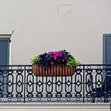 Flores na cesta na besteira Imagem de Stock