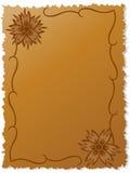 Flores na folha do escrita-livro Foto de Stock