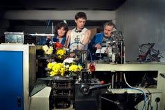 Flores na produção de máquinas no factory2 Imagem de Stock Royalty Free