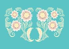 Flores no estilo decorativo Imagem de Stock
