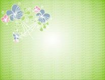 Flores no fundo Foto de Stock