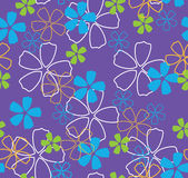 Flores no fundo azul Imagem de Stock Royalty Free