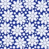 Flores no fundo sem emenda azul ilustração do vetor