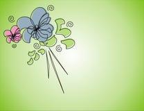 Flores no fundo verde Fotos de Stock