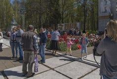 Flores no monumento fotos de stock royalty free