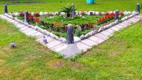 Flores no parque Fotografia de Stock Royalty Free