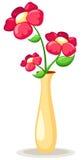 Flores no vaso Fotos de Stock Royalty Free