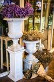 Flores no vaso fora do florista Imagem de Stock