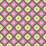Flores nos quadrados Imagens de Stock Royalty Free