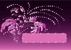 Flores púrpuras stock de ilustración