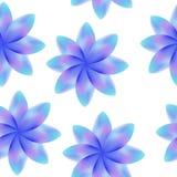 Flores púrpuras azules, estampado de flores periódico inconsútil, flores, fondo transparente Foto de archivo libre de regalías