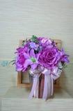 Flores púrpuras hechas del paño Fotografía de archivo