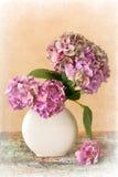 Flores painterly en colores pastel Imagen de archivo