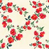 Flores Papel de parede abstrato com motivos florais Alinhador longitudinal sem emenda Imagem de Stock