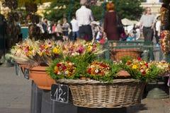 Flores para la venta en un mercado local Fotografía de archivo libre de regalías