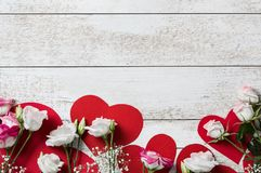 Flores para Valentine Day imagen de archivo libre de regalías