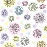 Flores Pastel Ilustração Royalty Free