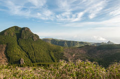 Flores. Pico dos Sete Pes in the center of the island of Flores, Azores, Portugal royalty free stock photos