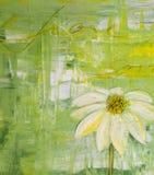 Flores pintadas da margarida Fotografia de Stock