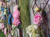 Flores plásticas Fotografia de Stock