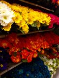 Flores plásticas Imagens de Stock
