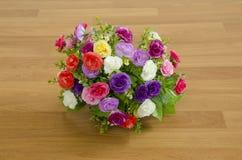 Flores plásticas Imágenes de archivo libres de regalías