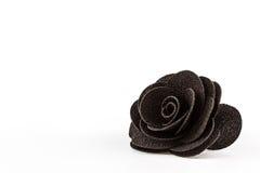 Flores pretas artificiais feitas do pano. fotografia de stock