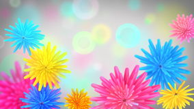 Flores que abren el fondo video colorido stock de ilustración