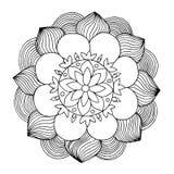 Flores que colorean la paginación libre illustration