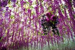 Flores que forman el techo Foto de archivo libre de regalías