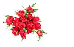 Flores Ramalhete colorido das flores isolado no branco imagens de stock royalty free