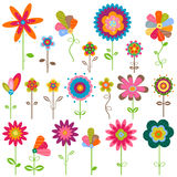 Flores retras Fotos de archivo libres de regalías